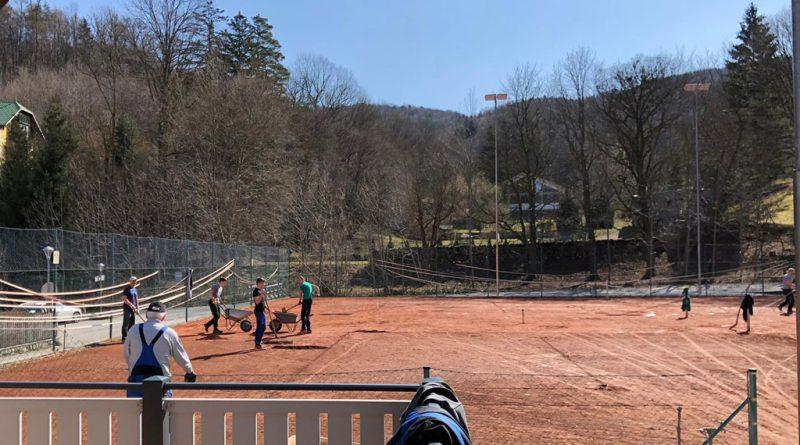 Tennisplatzsanierung 2021
